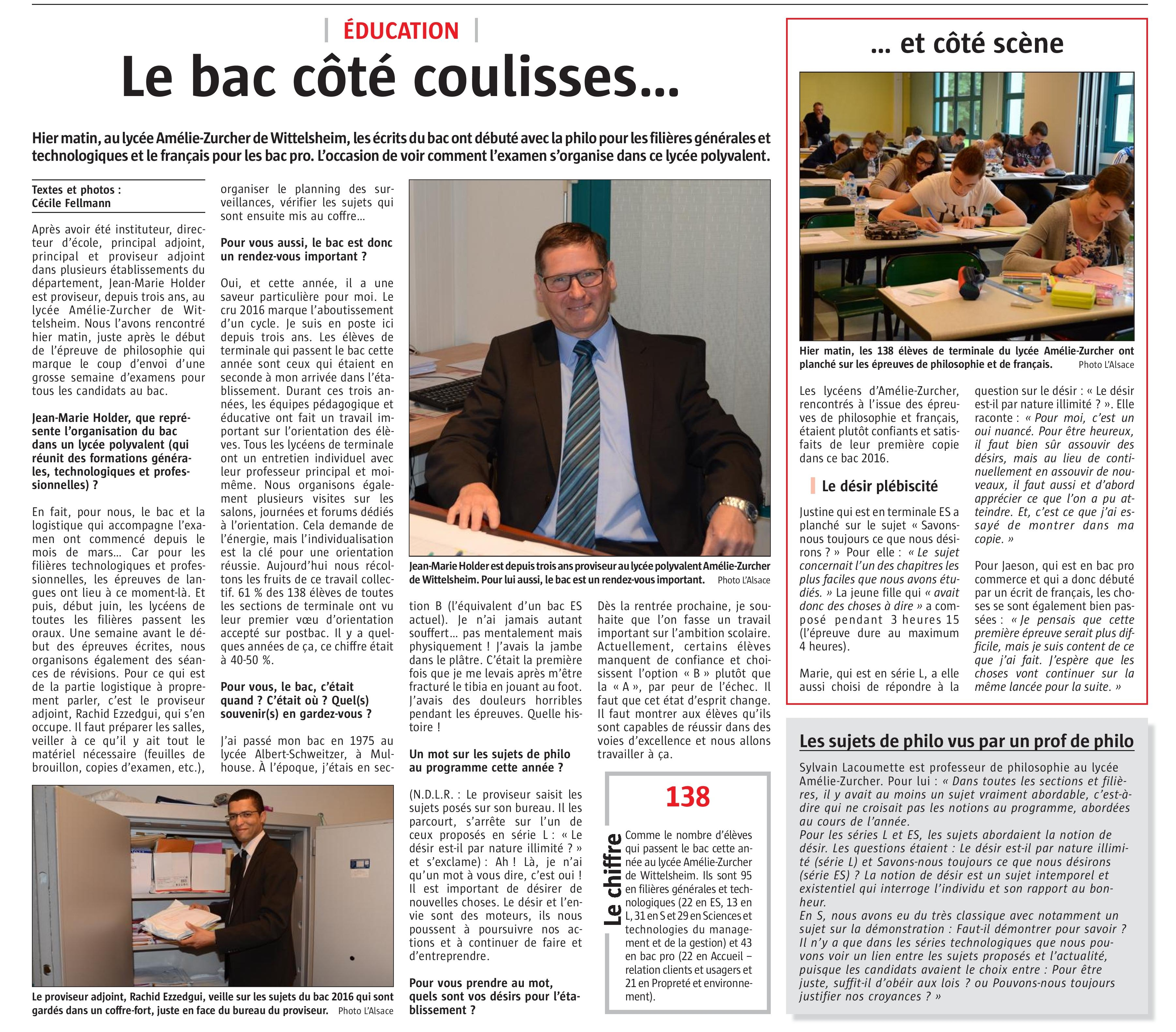 Reportage Bac 2016